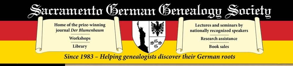 Sacramento German Genealogy Society